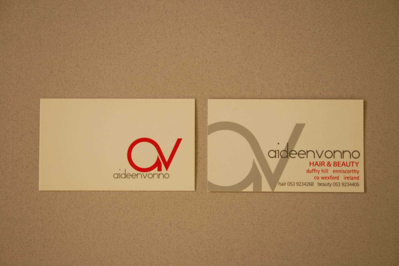 Aideen Vonno Business Cards - Two Heads Website & Graphic Designers