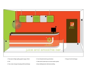 Just Juice Shop Interior Design