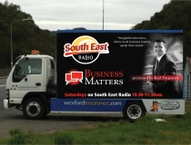Karl Fitzpatrick Business Matters Mobile Advertising Livery