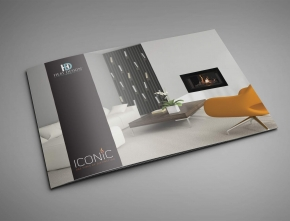 Heat Design ICONIC Gas Fire Brochure Design