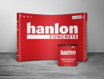 3 x 3 Popup Display Wall Graphics Designed – Hanlon Concrete