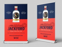 Extra Wide Pullup & Rollup Display Banners – Jackford Gin