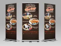 Standard Pullup & Rollup Display Banners – Oven Door Catering