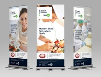 Higher Quality Long Life Pullup Display Banners – Taste 4 Success Skillnet