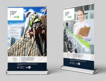 Extra Wide Pullup Rollup Display Banners – MBE Skillnet