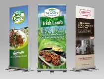 Pullup & Rollup Free standing Display Banner signs – Irish Country Meats